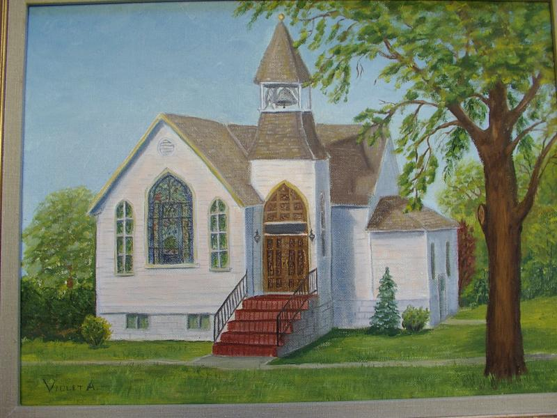 The old Presbyterian church later housed the United Methodists