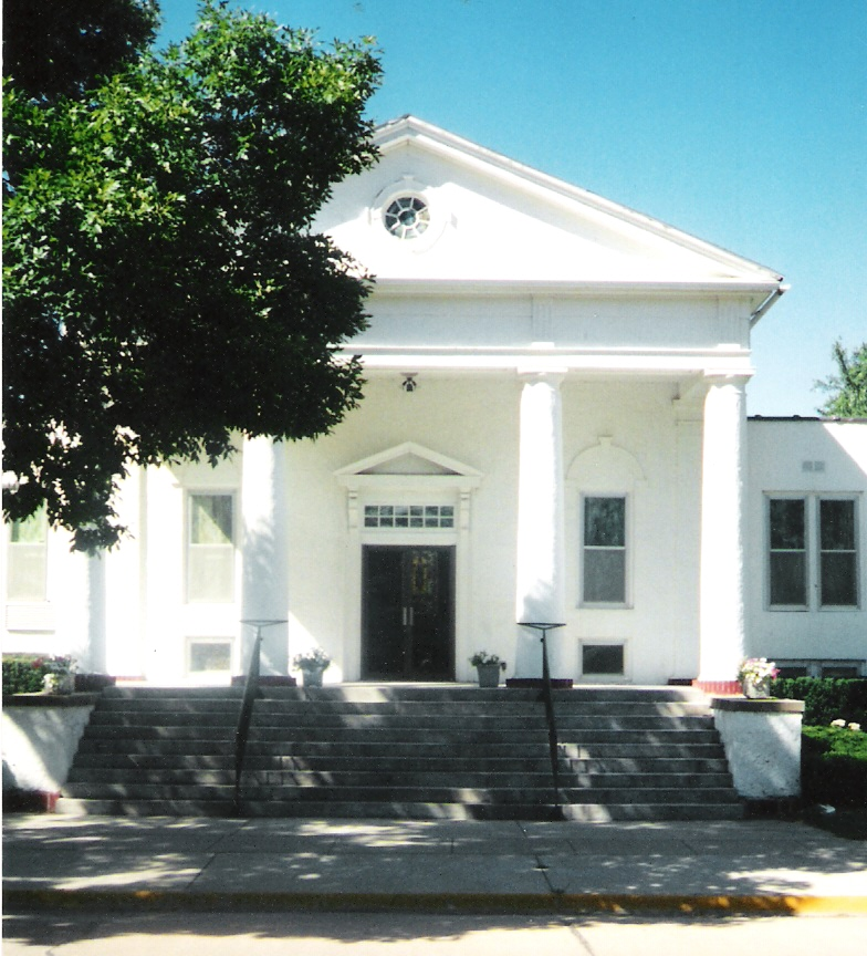 The front of our church